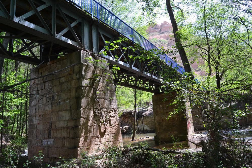 Pilares centrales del puente