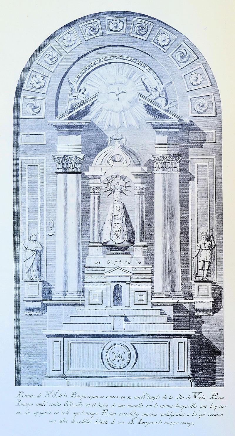 Grabado de la Virgen de la Varga
