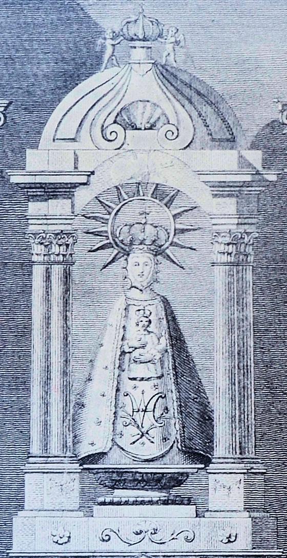 Detalle de la Virgen de la Varga