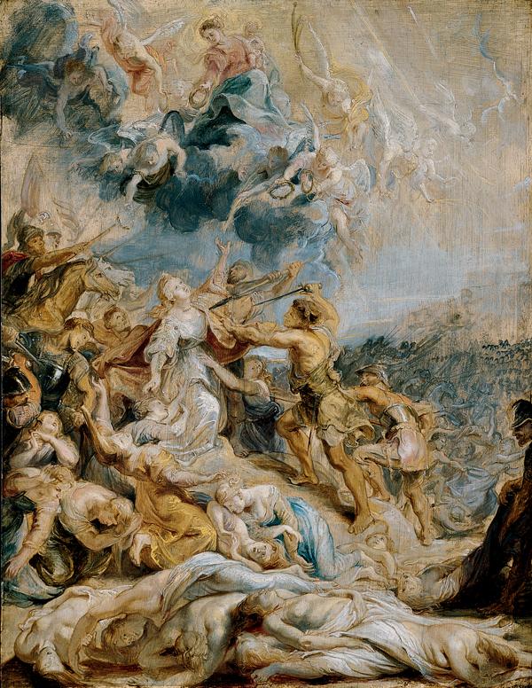 El martirio de Santa Ursula y de las once mil vírgenes - Peter Paul Rubens