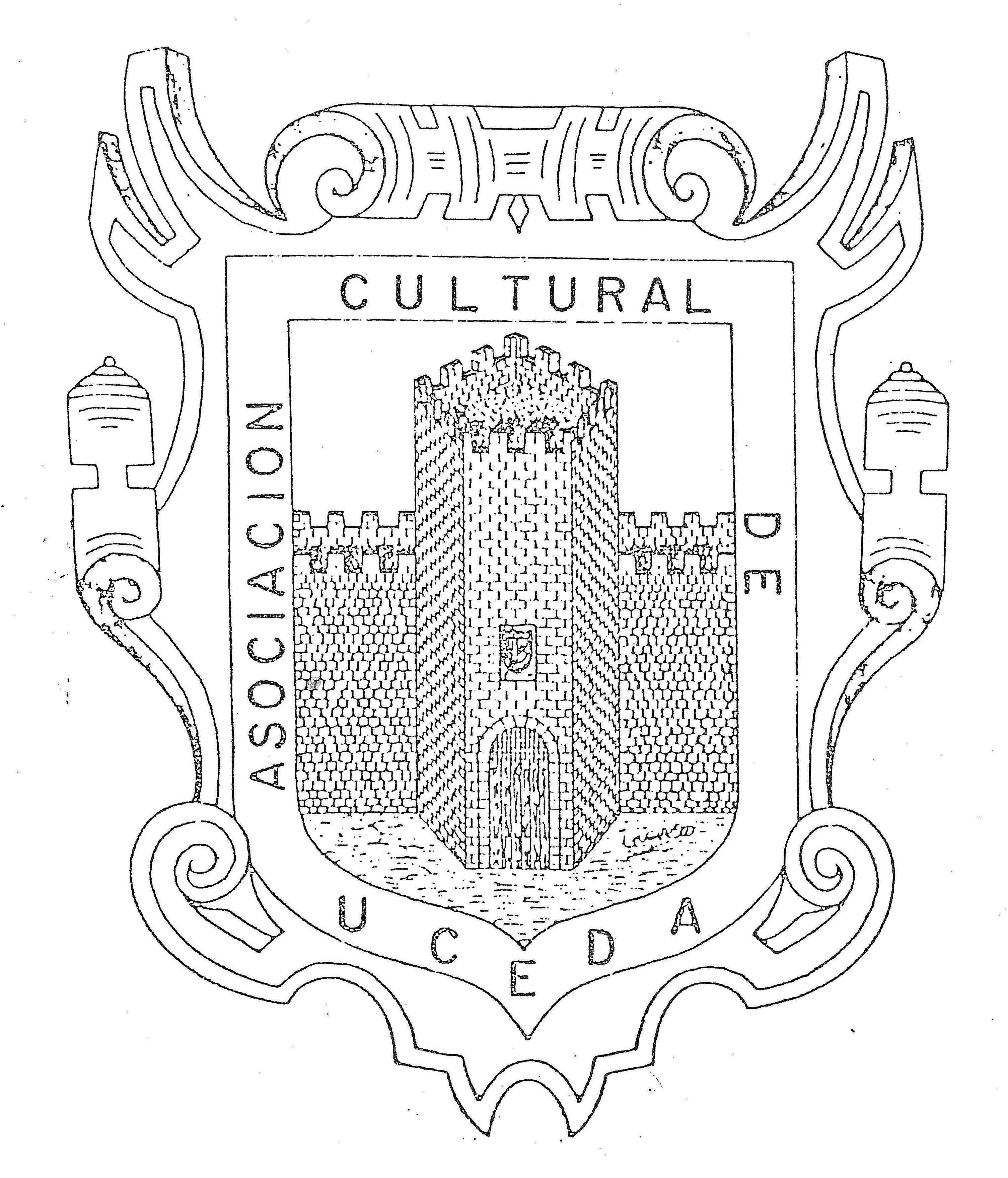 """Contraportada del """"Sopeña"""" en su V Época - Escudo de la Asociación Cultural de Uceda"""