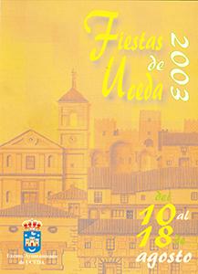 Programa de las fiestas patronales de 2003